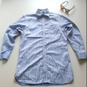 Jos A. Bank Striped Long Sleeve Button Up Shirt